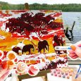 How to paint efficiently on a paint-by-number canvas- a perfect guide for beginners.